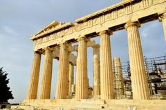 Parthenon on the Acropolis in Athens Stock Photos
