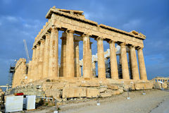 Parthenon on the Acropolis in Athens Stock Photo