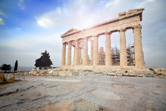 Parthenon on the Acropolis in Athens Stock Photos