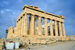 Parthenon on the Acropolis in Athens Stock Images