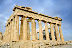 Parthenon on the Acropolis in Athens Stock Image