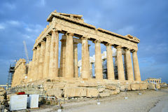 Parthenon on the Acropolis in Athens Royalty Free Stock Images