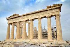 Parthenon on the Acropolis in Athens Royalty Free Stock Images