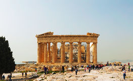 Parthenon at Acropolis in Athens, Greece Royalty Free Stock Images