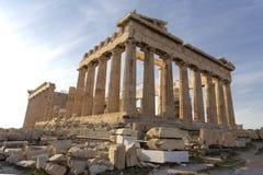 Parthenon on Acropolis, Athens, Greece. It is a main tourist attraction of Athens. Ancient Greek architecture of Athens in summer. Parthenon on Acrois, Athens royalty free stock photos