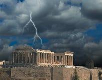 Parthenon Acropolis in Athens Greece stock photo