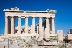 Parthenon in Acropolis of Athens, Greece. View on Parthenon in Acropolis of Athens, Greece Stock Images