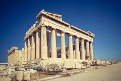 Parthenon in Acropolis of Athens, Greece Stock Photo