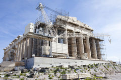 Parthenon at Acropolis Athens. During the restoration process Stock Images