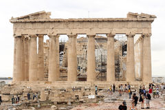 The Parthenon in acropolis of athens Stock Photography