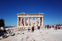 Parthenon in Acropolis stock photography