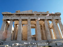 Parthenon at Acropolis in Greece Royalty Free Stock Images