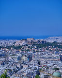 Parthenon on acropolis hill and Athens cityscape Stock Image