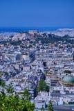 Parthenon on acropolis hill and Athens cityscape Stock Photo