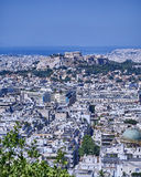 Parthenon on acropolis hill and Athens cityscape Stock Photography
