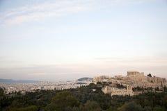 The Parthenon,Acropolis,sunset. The Parthenon in Athens Greece royalty free stock photo