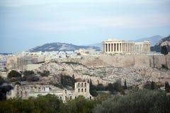 The Parthenon,Acropolis,sunset. The Parthenon in Athens Greece stock images