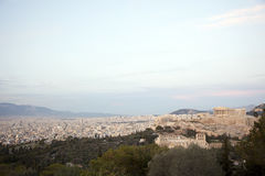 The Parthenon,Acropolis,sunset Royalty Free Stock Photography