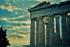 Parthenon, akropol, Ateny Zdjęcie Royalty Free