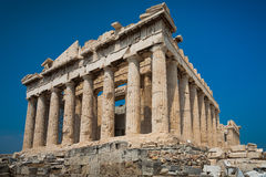 Parthenon in Akropolis Royalty-vrije Stock Fotografie