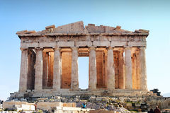 Parthenon - Akropolis, Athene stock foto