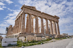Parthenon ancient temple on Acropolis hill Royalty Free Stock Photography