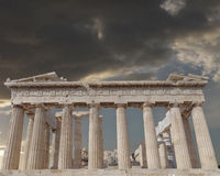 Parthenon ancient temple on Athenian Acropolis, Greece Stock Images