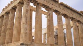 Parthenon antiguo almacen de metraje de vídeo