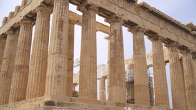 Parthenon antiguo almacen de video
