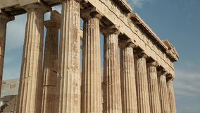Parthenon - antique temple in Athenian Acropolis in Greece stock video