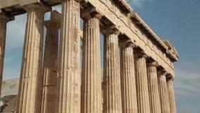 Parthenon - antique temple in Athenian Acropolis in Greece stock video