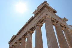 Parthenon Athen Grekland, Tample Royaltyfria Foton