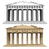 Parthenon, Athen Vektoren von Europäermonumenten Lizenzfreie Stockfotos