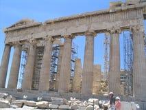 Parthenon, Athene stock afbeelding