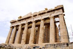Parthenon, in Athene Akropolis, Griekenland Stock Afbeeldingen