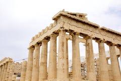 Parthenon, in Athene Akropolis, Griekenland stock fotografie