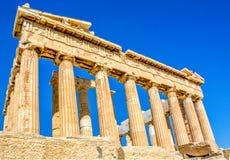 Parthenon in Athene, Griekenland stock foto