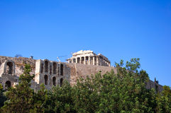 The Parthenon on the Athenian Acropolis on August 1, 2013, Greece. Stock Photo