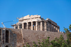 The Parthenon on the Athenian Acropolis on August 1, 2013, Greece. Stock Photos
