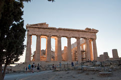 The Parthenon on the Athenian Acropolis on August 1, 2013 in Athens, Greece. Royalty Free Stock Photography