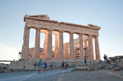 The Parthenon on the Athenian Acropolis on August 1, 2013 in Athens, Greece. Stock Images