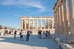 The Parthenon on the Athenian Acropolis on August 1, 2013, Greece. Royalty Free Stock Photography