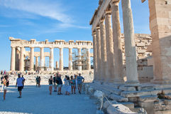 The Parthenon on the Athenian Acropolis on August 1, 2013, Greece. Stock Photography