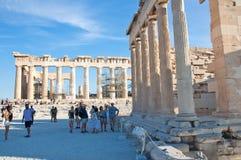 The Parthenon on the Athenian Acropolis on August 1, 2013, Greece. Stock Photography