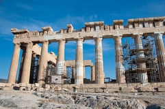 The Parthenon on the Athenian Acropolis, Greece. Stock Images