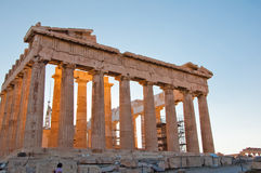The Parthenon on the Athenian Acropolis, Greece. Stock Photo