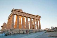 The Parthenon on the Athenian Acropolis, Greece. Stock Image