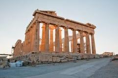 The Parthenon on the Athenian Acropolis, Greece. Royalty Free Stock Photos