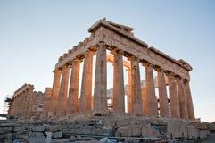 The Parthenon on the Athenian Acropolis, Greece. Royalty Free Stock Images