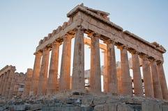 The Parthenon on the Athenian Acropolis, Greece. Royalty Free Stock Photography